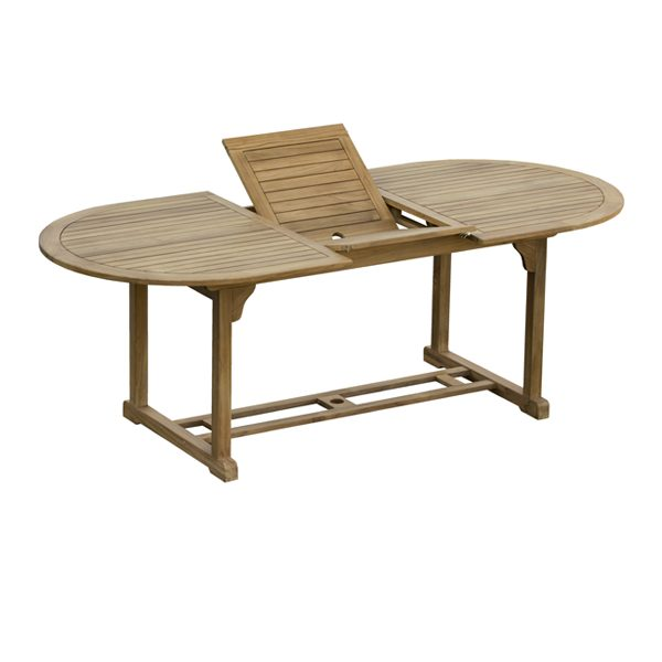 Oval ext table 100×170/220cm PS08-TF1000